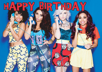 Little Mix Phones Birthday Card