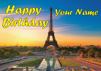 Eiffel Tower Birthday Card