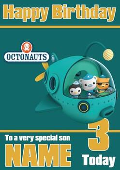 Octonauts 1 Birthday Card