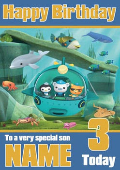 Octonauts 2 Birthday Card
