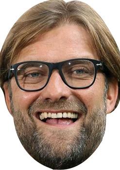 Juergen Klopp Happy Football 2018 Celebrity Face Mask