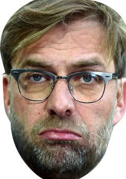 Juergen Klopp Sad Football 2018 Celebrity Face Mask