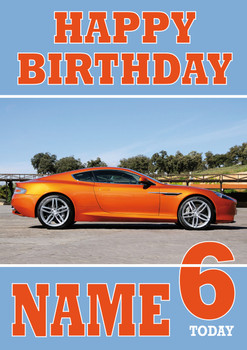 Personalised Aston Martin Birthday Card