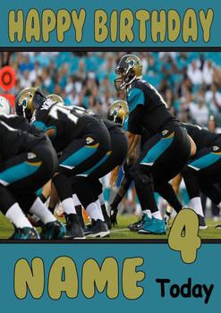 Personalised Jacksonville Jaguars Birthday Card