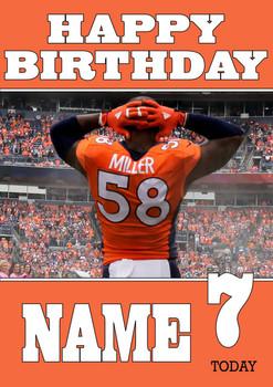 Personalised Denver Broncos Birthday Card 2