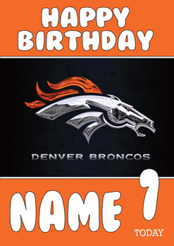 Personalised Denver Broncos Birthday Card 4