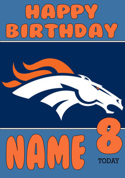 Personalised Denver Broncos Birthday Card 5