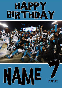 Personalised Carolina Panthers Birthday Card