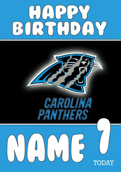 Personalised Carolina Panthers Birthday Card 2
