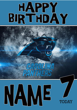 Personalised Carolina Panthers Birthday Card 3