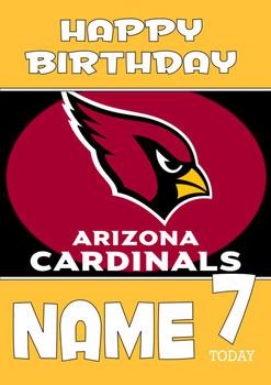 Personalised Arizona Cardinals Birthday Card
