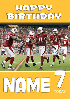 Personalised Arizona Cardinals Birthday Card 2