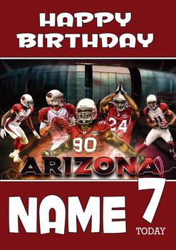 Personalised Arizona Cardinals Birthday Card 3