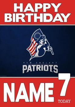 Personalised New England Patriots Birthday Card