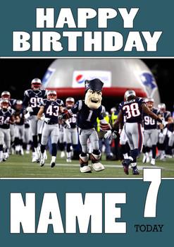 Personalised New England Patriots Birthday Card 2