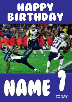 Personalised New England Patriots Birthday Card 3