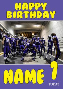 Personalised Minnesota Vikings Birthday Card
