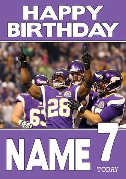 Personalised Minnesota Vikings Birthday Card 2