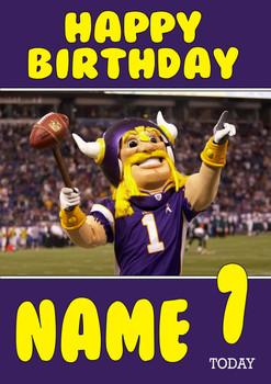 Personalised Minnesota Vikings Birthday Card 3
