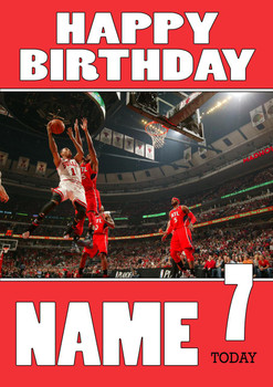 Personalised Chicago Bulls Birthday Card
