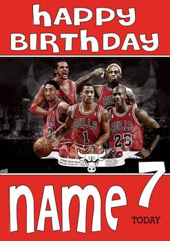 Personalised Chicago Bulls Birthday Card 2