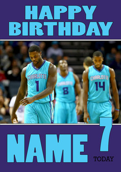 Personalised Charlotte Hornets Birthday Card