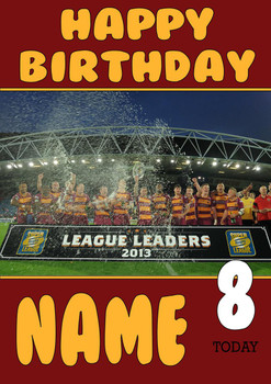 Personalised Huddersfield Giants Birthday Card 2