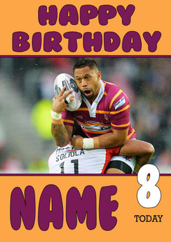 Personalised Huddersfield Giants Birthday Card 3