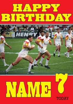 Personalised Catalan Dragons Birthday Card