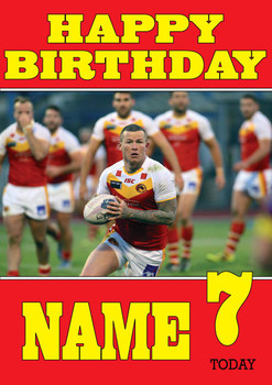 Personalised Catalan Dragons Birthday Card 3