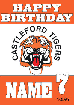 Personalised Castleford Tigers Birthday Card