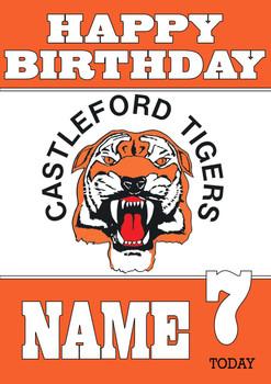 Personalised Castleford Tigers Birthday Card