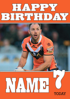 Personalised Castleford Tigers Birthday Card 2