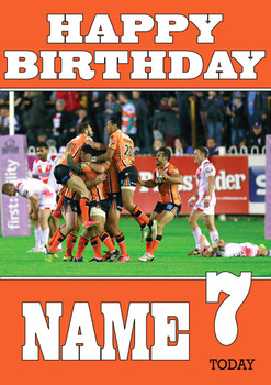 Personalised Castleford Tigers Birthday Card 4