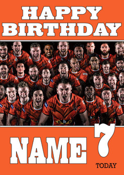 Personalised Castleford Tigers Birthday Card 5