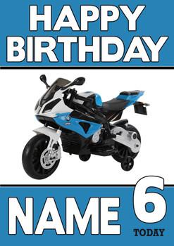 Personalised Bmw Bike Birthday Card