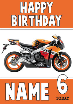 Personalised Honda Bike Birthday Card