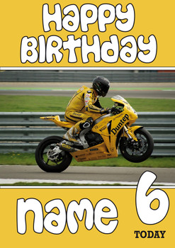 Personalised Dunlop Bike Birthday Card