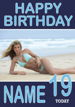 Amy Willerton Birthday Card