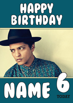 Bruno Mars Birthday Card