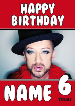 Boy George Birthday Card