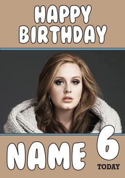 Adele Birthday Card