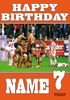 Castleford Tigers 2 Birthday Card