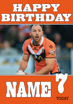 Castleford Tigers 4 Birthday Card