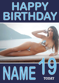 Personalised Emily Ratajkowski Birthday Card