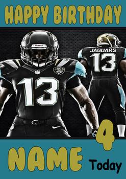 Personalised Jacksonville Jaguars Birthday Card 5
