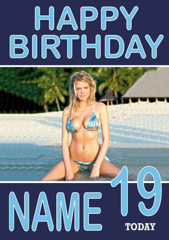 Personalised Kate Upton Birthday Card