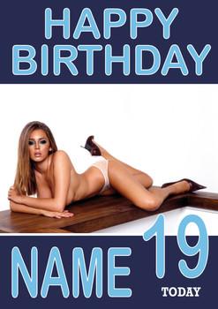 Personalised KE Designeley Hazel Birthday Card