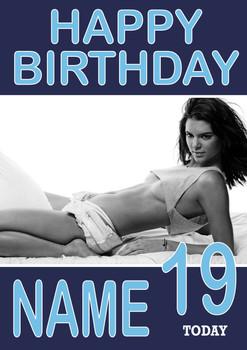 Personalised KE Designndall Jenner Birthday Card