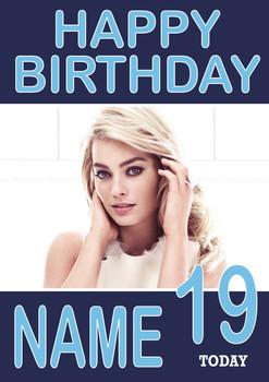 Personalised Margot Robbie Birthday Card